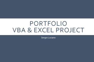 Portfolio for Excel and VBA Development