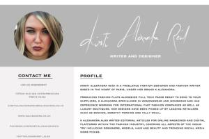 Portfolio for Fashion Designer. Fashion Writer
