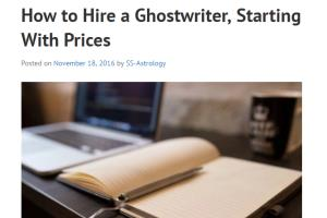 Portfolio for Creative Ghostwriting Services