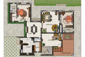 Portfolio for architect, interior & landscape designer