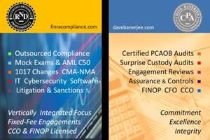 Portfolio for FINRA & SEC Compliance Expertise