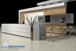 Fly-through of modern kitchen