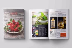Portfolio for magazine cover and layout design