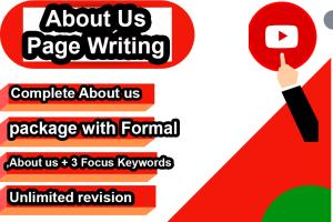 Portfolio for About Us Page Writing