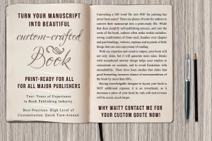 Portfolio for Typesetting, interior book formatting