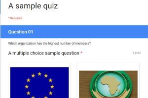 Portfolio for Survey forms based on google forms