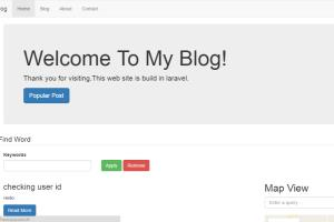 Blog in Laravel with Complete Backend