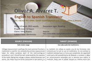 Portfolio for English to Spanish Translator