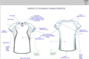 Portfolio for Fashion Designer / Technical design