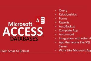 Portfolio for Incredible Services on Microsoft Access