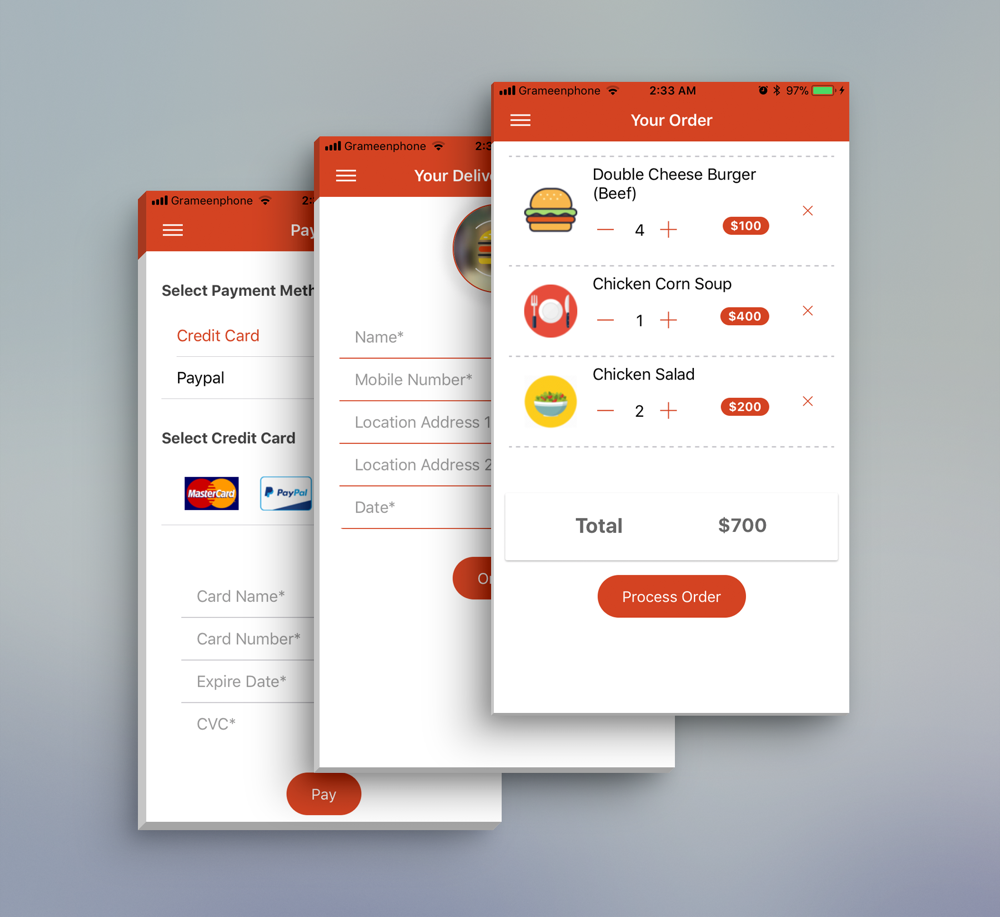 Restaurant Food Delivery App(ionic) by haidao jin 712886