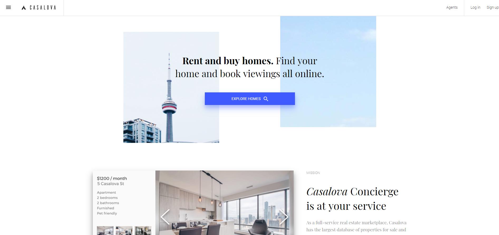 Rental home website (https://www casalova com/) by *Pink