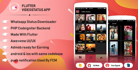 Flutter WhatsApp video status & video sharing with admi by