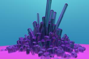 Crystal cluster 3d