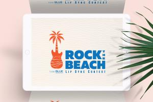 Rock the beach - Event Logo design