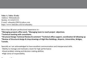 Portfolio for Sr structure engineer/ PMP/autocad
