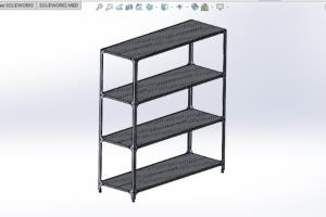 Collapsible rack made of stainless steel (sheet metal )