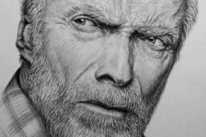 Portfolio for create a realistic portrait in charcoal