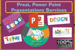 Portfolio for Power Point Presentation Services