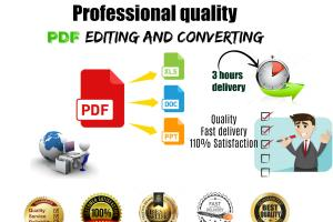 Portfolio for Edit/Convert pdf to other file formats