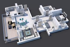 Portfolio for 3D Rendering Floor PLAN