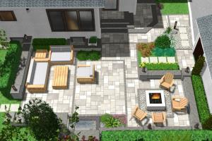 Portfolio for Full yard landscape design