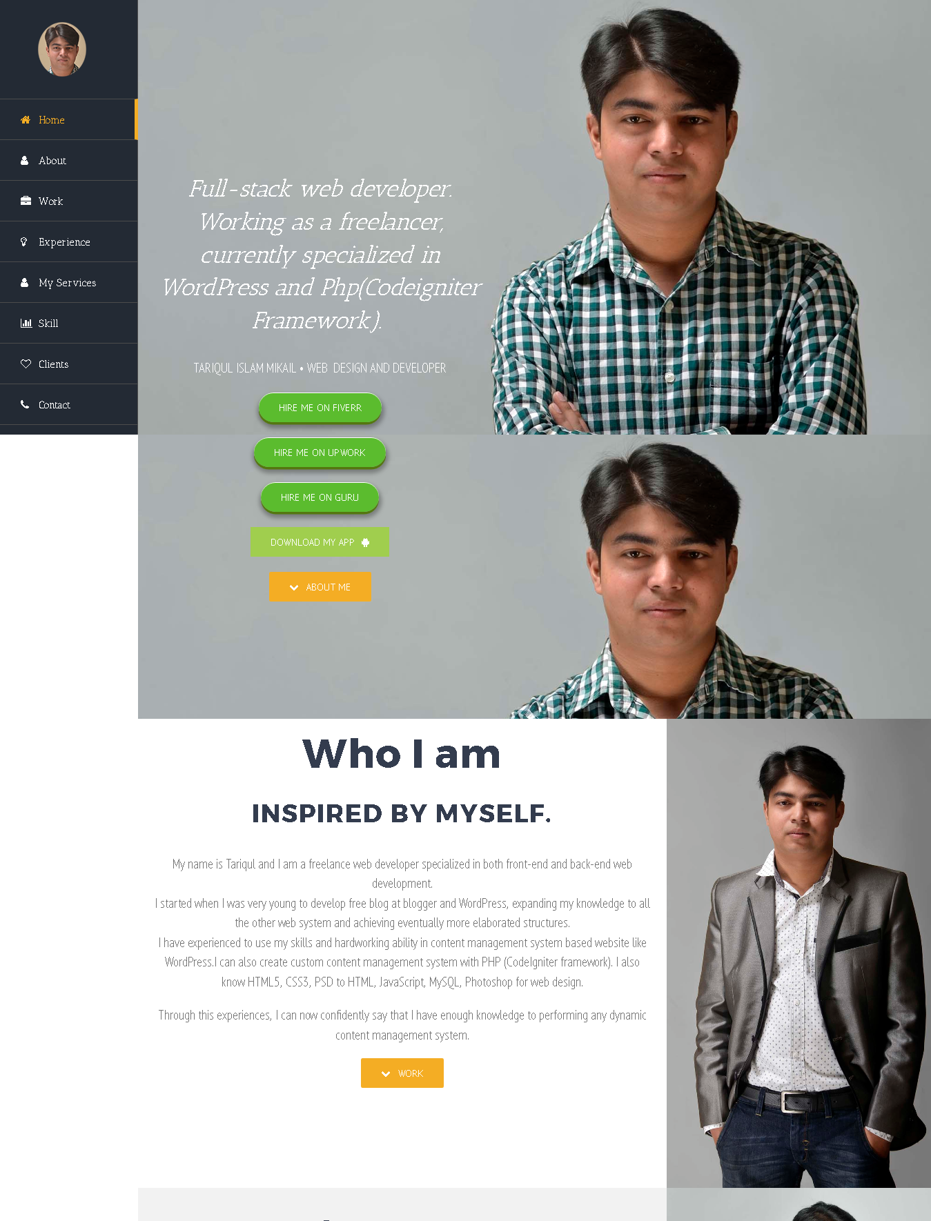 Resume website with Avada WordPress theme by Tariqul Islam Mikail ...