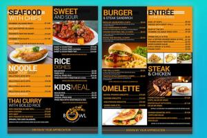 Portfolio for Professional Menu & Catalog Design