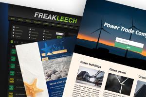 Portfolio for Web Design, front-end development