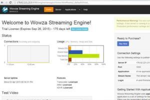 Portfolio for Wowza Streaming Engine Setup