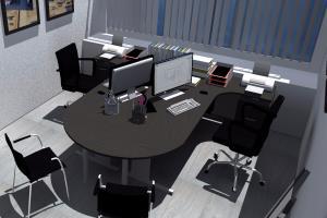 an interior design of an office