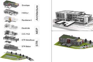 Portfolio for BIM Building information modeling /Revit