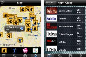 Paris Night Guide iPhone app