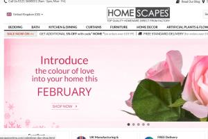 HomeScapes: Online shopping store