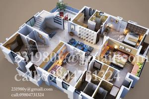 Portfolio for FLOOR PLAN RENDERING