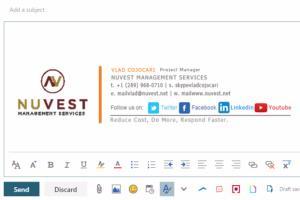 Portfolio for Custom HTML email signature