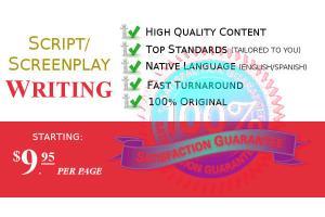 Portfolio for Script/Screenplay Writing