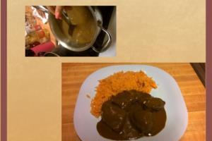 Pollo con Mole y Arroz Spanish Instructions