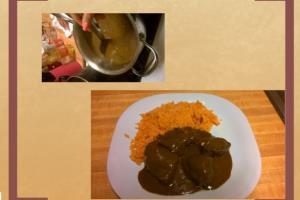 Pollo con Mole y Arroz English Instructions