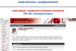 Portfolio for Freelance writer, SEO, digital marketer