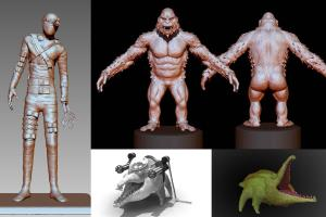 3D modeling and 3d printing characters