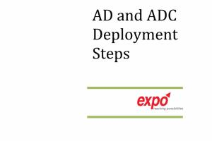 Portfolio for Active Directory Deployment Services