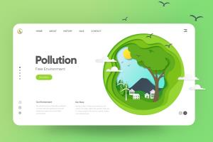 Pollution Landing page