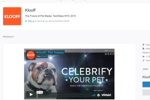 klooff: social networking for pets