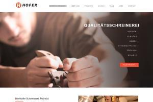 Hofer - a swiss company website