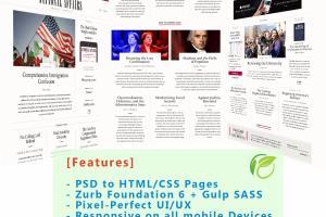 PSD to HTML/CSS using Zurb Foundation 6