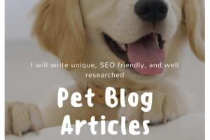 Portfolio for Content Writing: Pets and Animals