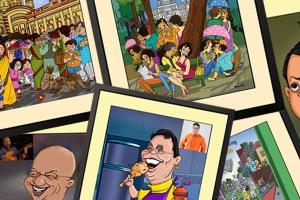 Portfolio for Caricature Illustration  Poster Design