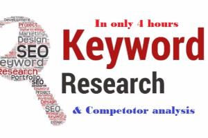 Portfolio for Keyword Research & competitor analysis