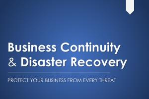 Portfolio for Business Continuity and Disaster Recover